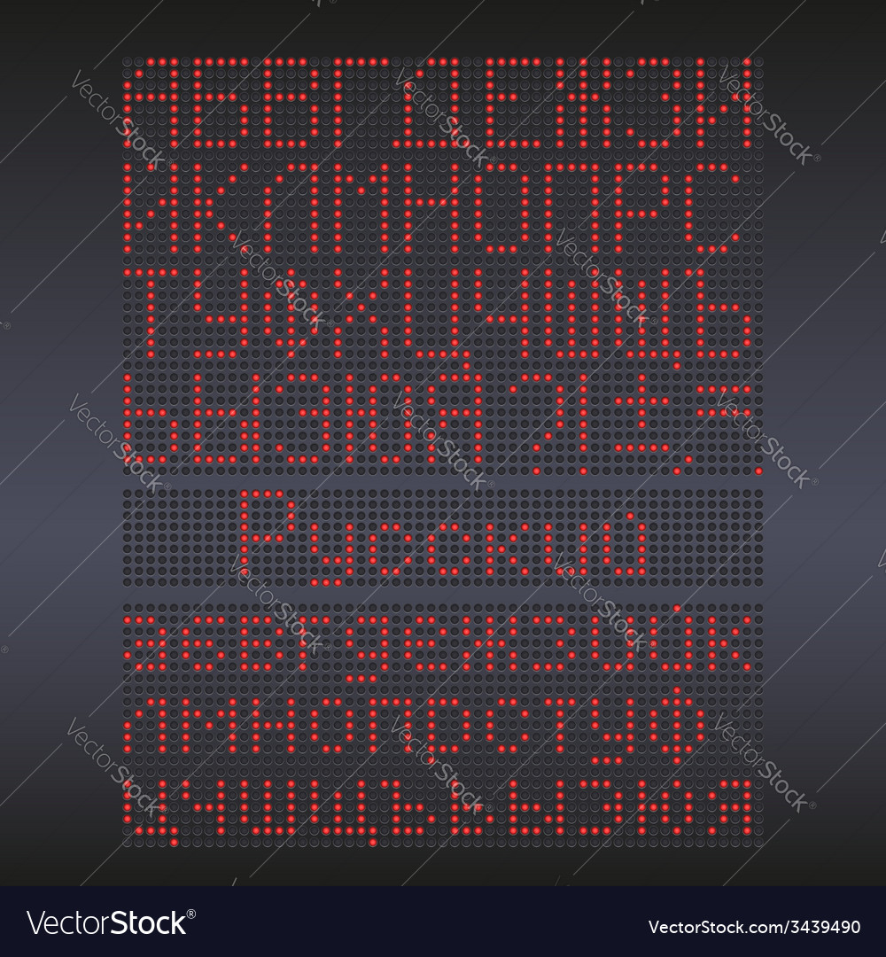 Colorful redled display against dark background vector | Price: 1 Credit (USD $1)