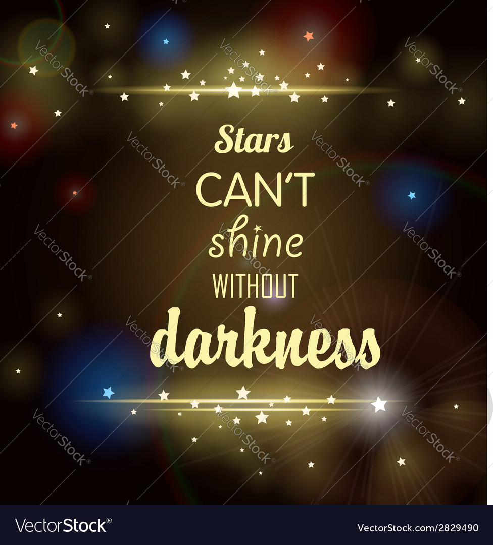 Dark background with shining stars and inscription vector | Price: 1 Credit (USD $1)