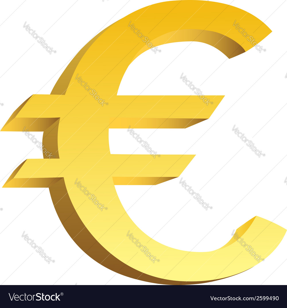 Golden currency symbol vector | Price: 1 Credit (USD $1)
