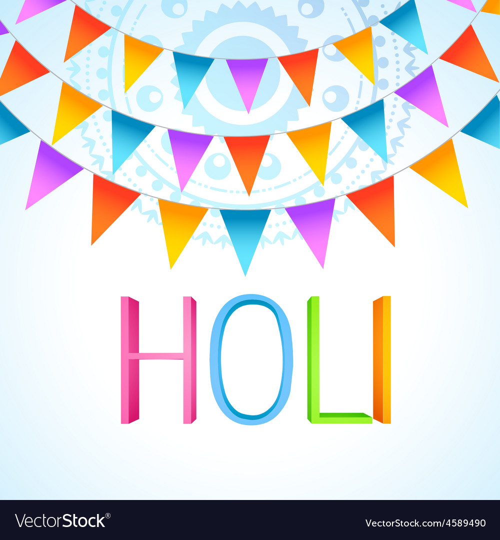 Holi festival celebration vector | Price: 1 Credit (USD $1)