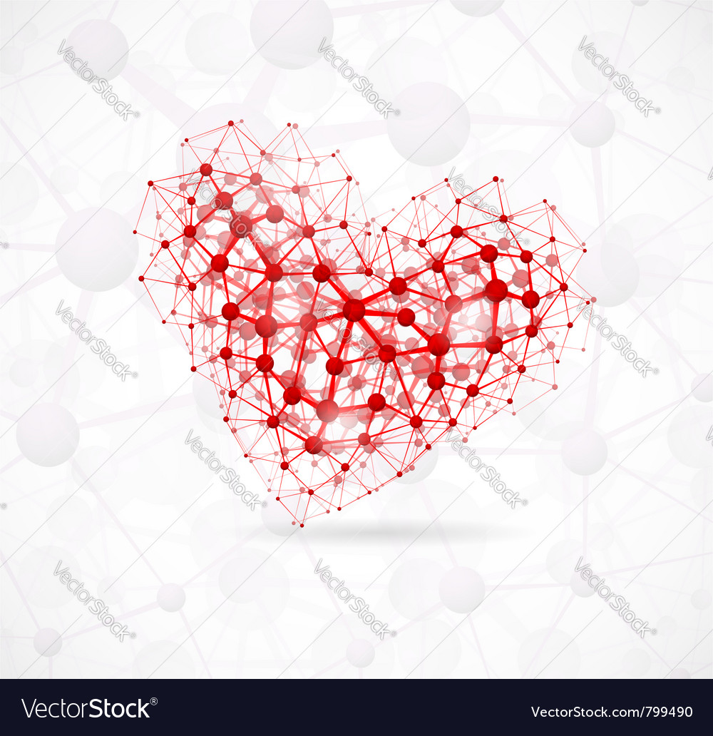 Molecular heart vector | Price: 1 Credit (USD $1)