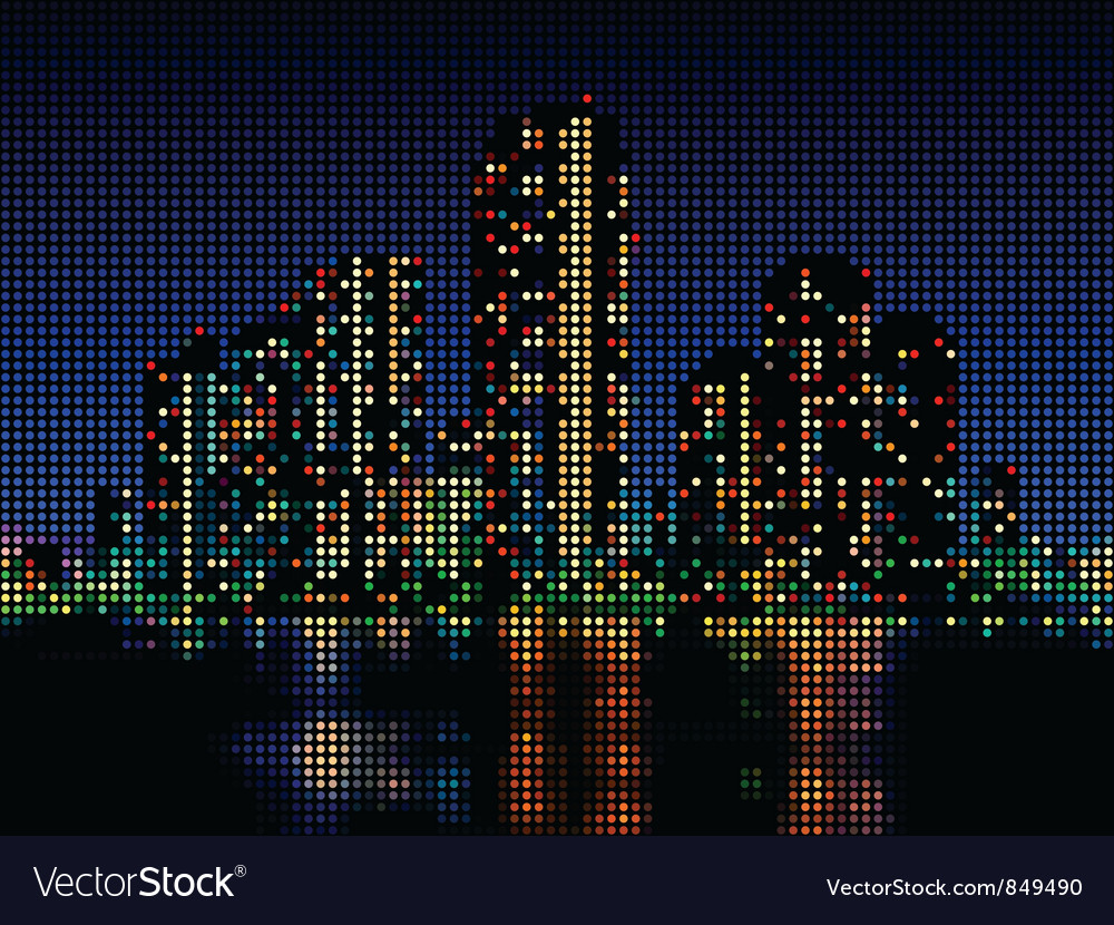 Night cityscape vector | Price: 1 Credit (USD $1)