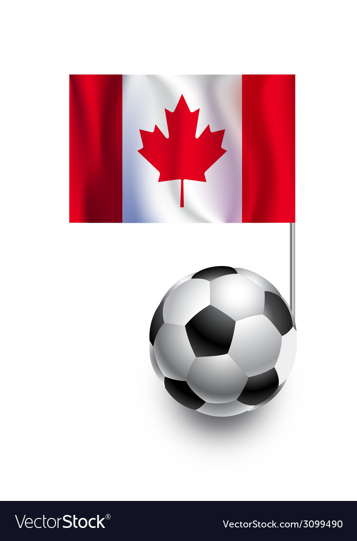 Soccer balls or footballs with flag of canada vector | Price: 1 Credit (USD $1)