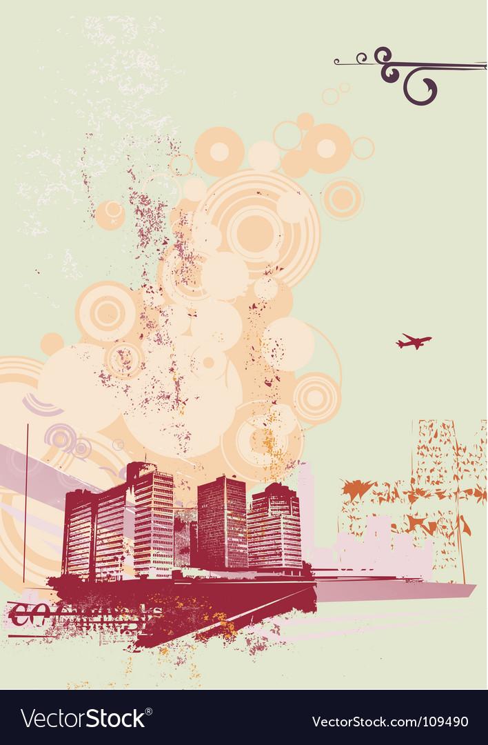 Urban retro background vector | Price: 1 Credit (USD $1)