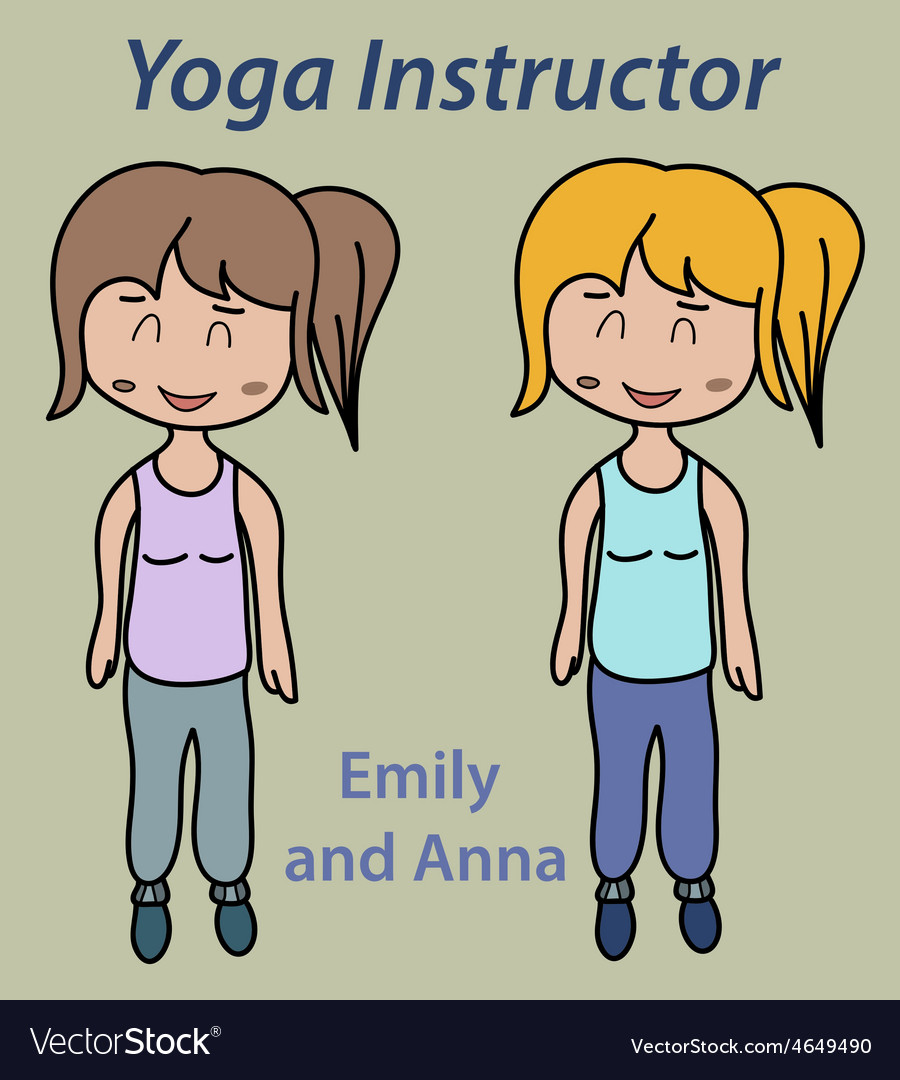 Yoga instructor sport stretch thin vector   Price: 1 Credit (USD $1)