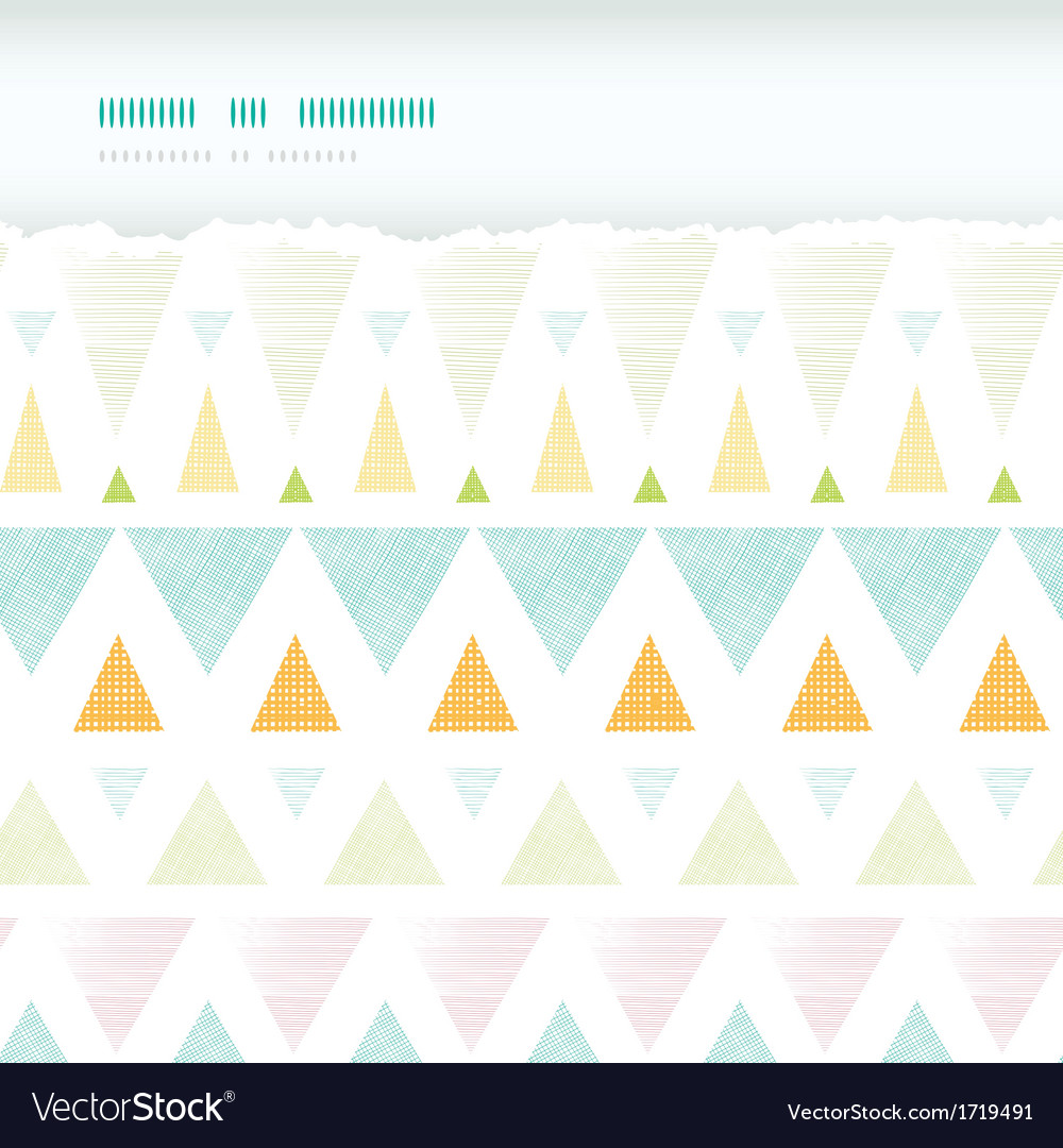Abstract ikat triangles stripes horizontal torn vector
