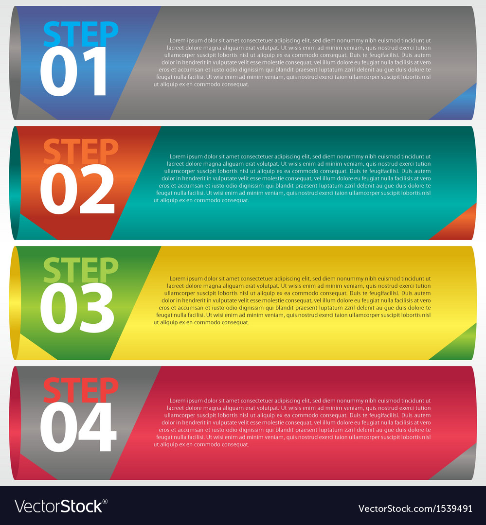 Abstract modern banner with numbered eps10 vector | Price: 1 Credit (USD $1)