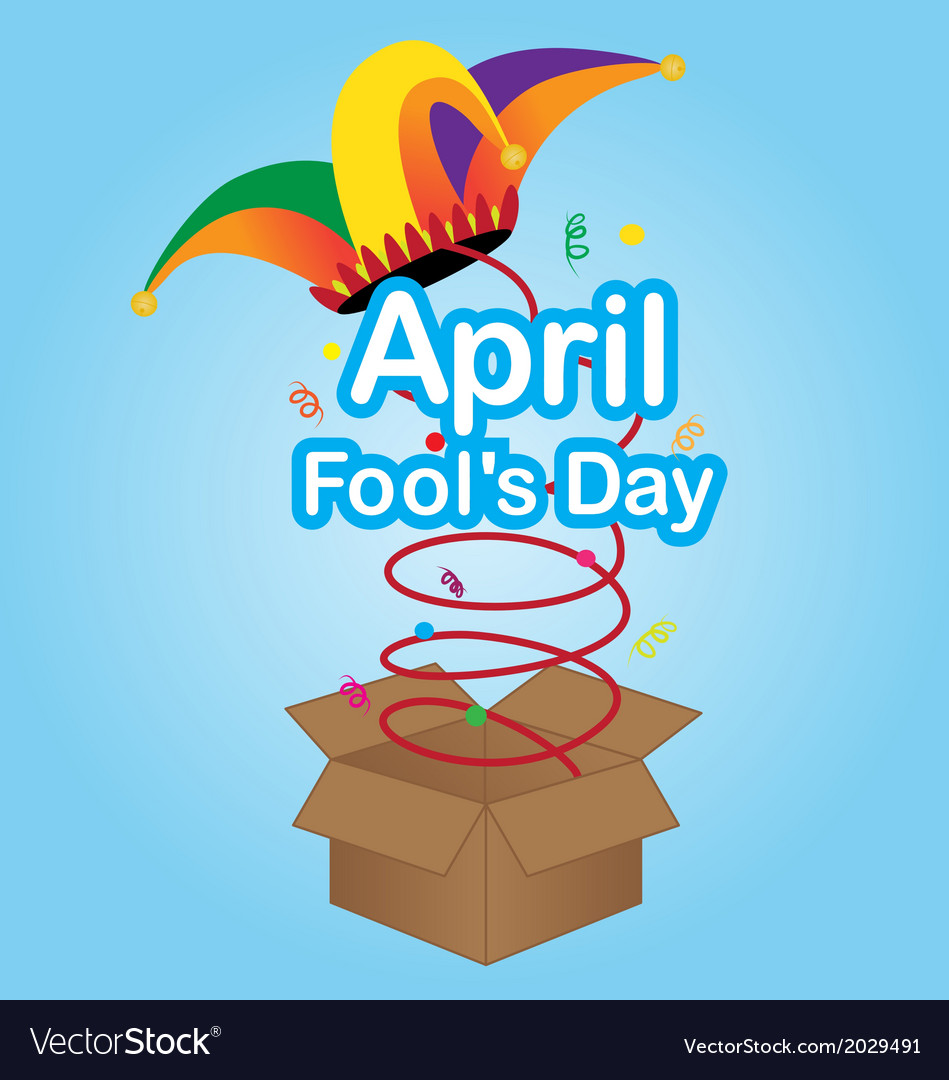 April fools day sign with jester hat vector | Price: 1 Credit (USD $1)