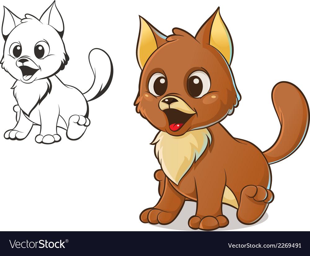 Brown cat vector | Price: 1 Credit (USD $1)
