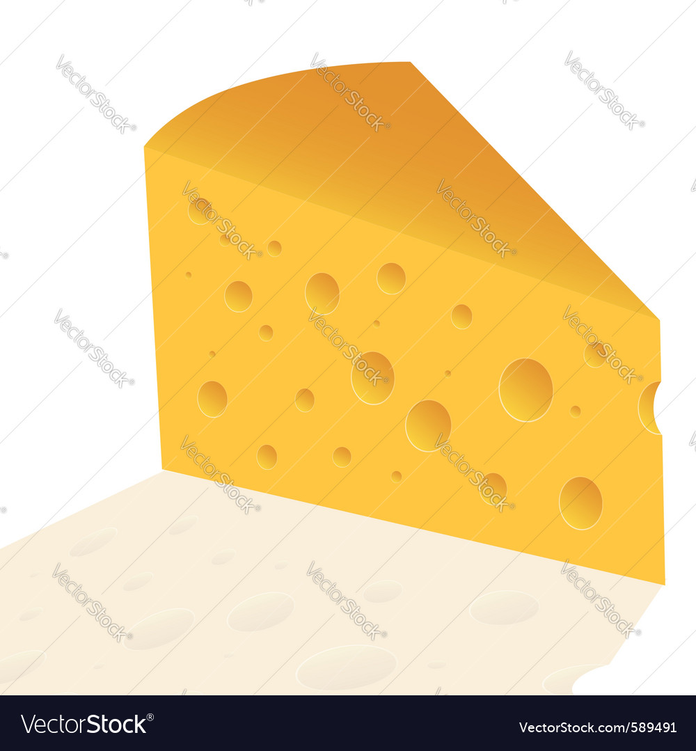 Cheese slice vector | Price: 1 Credit (USD $1)