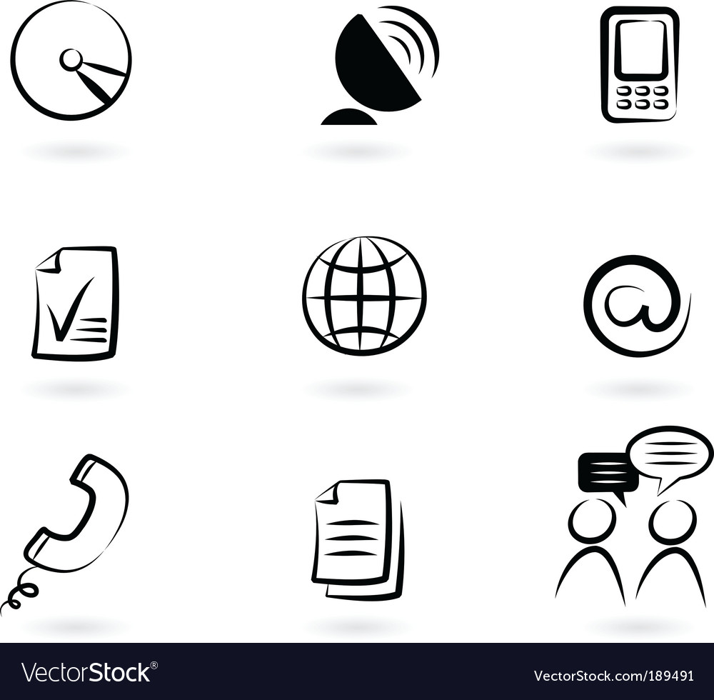 Communication technology icon and logos vector | Price: 1 Credit (USD $1)