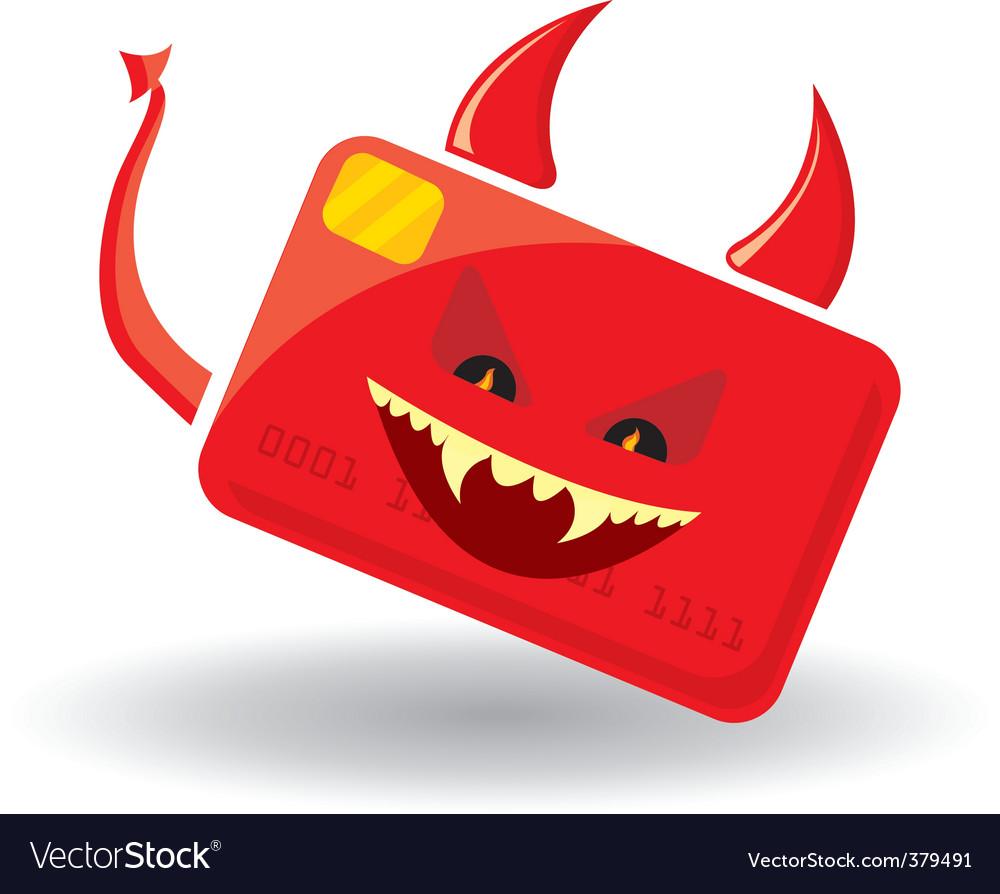 Devil card vector | Price: 1 Credit (USD $1)