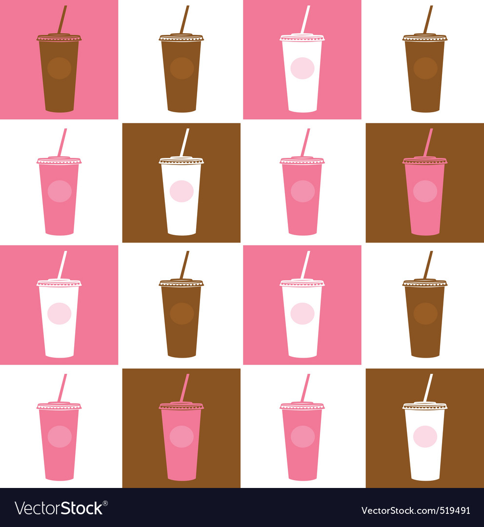 Fast food cofee cup background vector | Price: 1 Credit (USD $1)