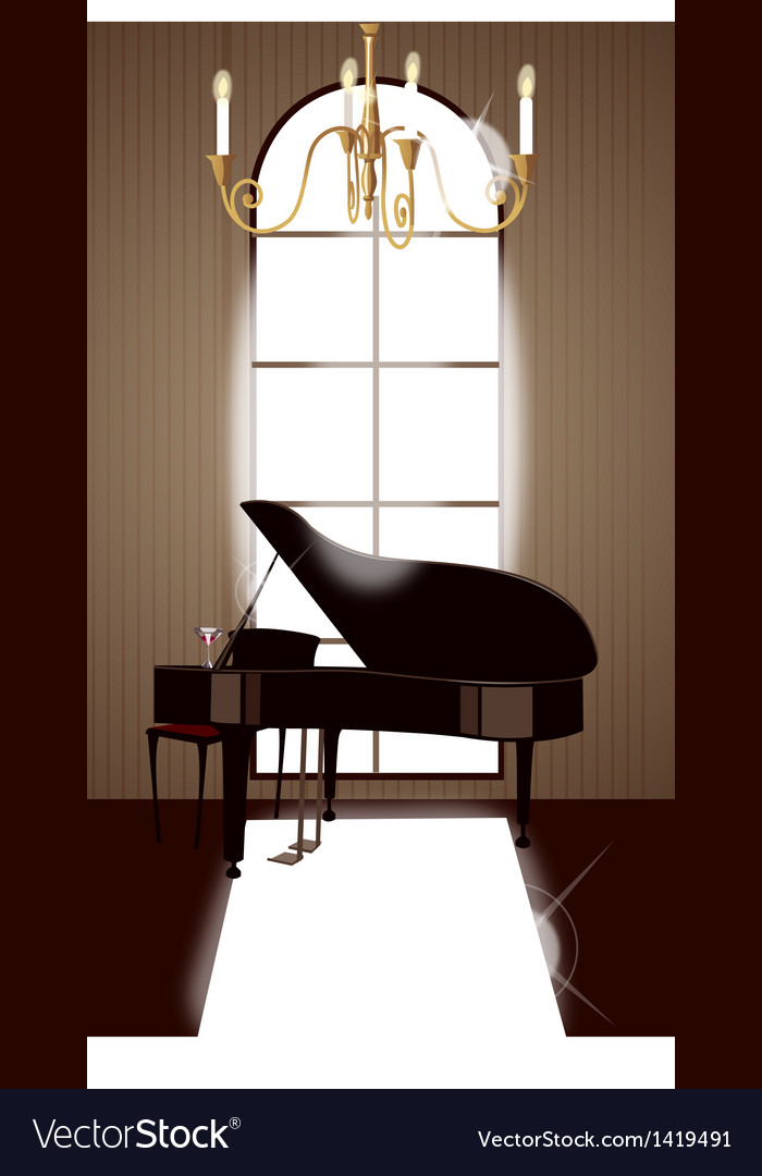 Grand piano room vector | Price: 1 Credit (USD $1)
