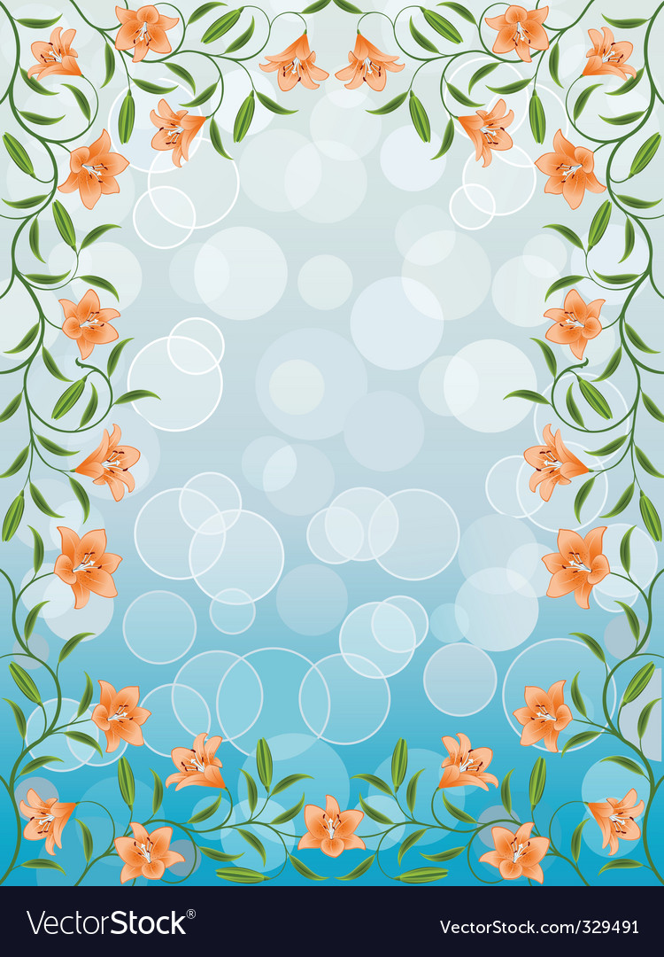 Lily frame vector | Price: 1 Credit (USD $1)
