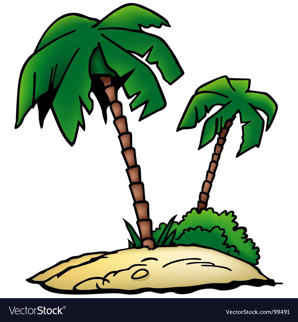Palms beach vector | Price: 1 Credit (USD $1)