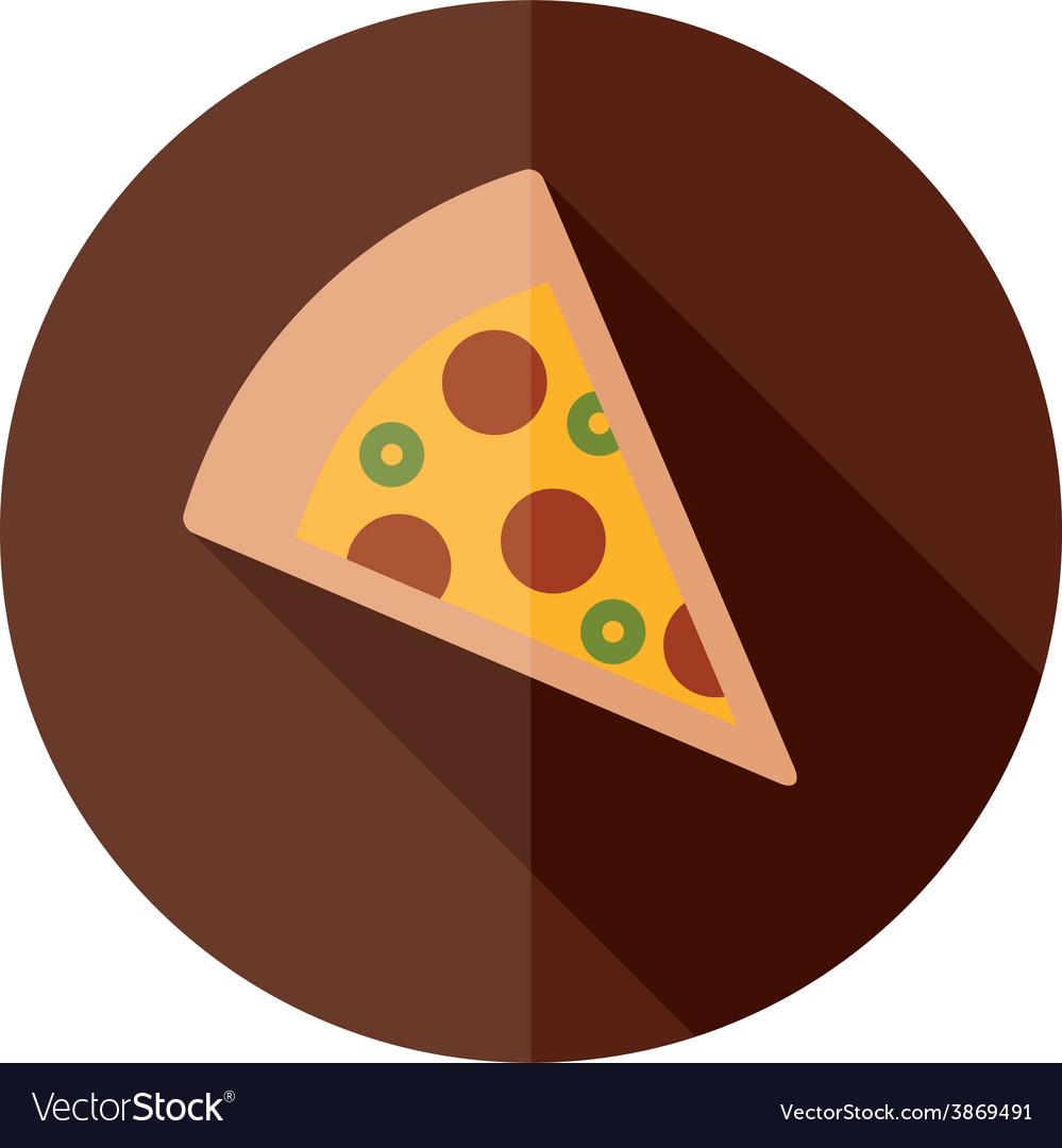 Pizza flat icon vector | Price: 1 Credit (USD $1)
