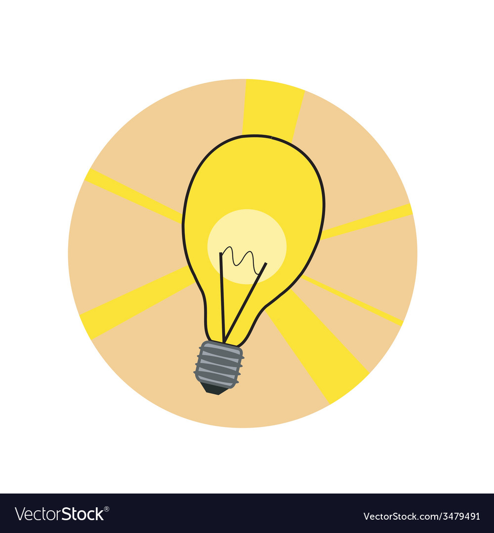 Shiny lamp icon vector | Price: 1 Credit (USD $1)