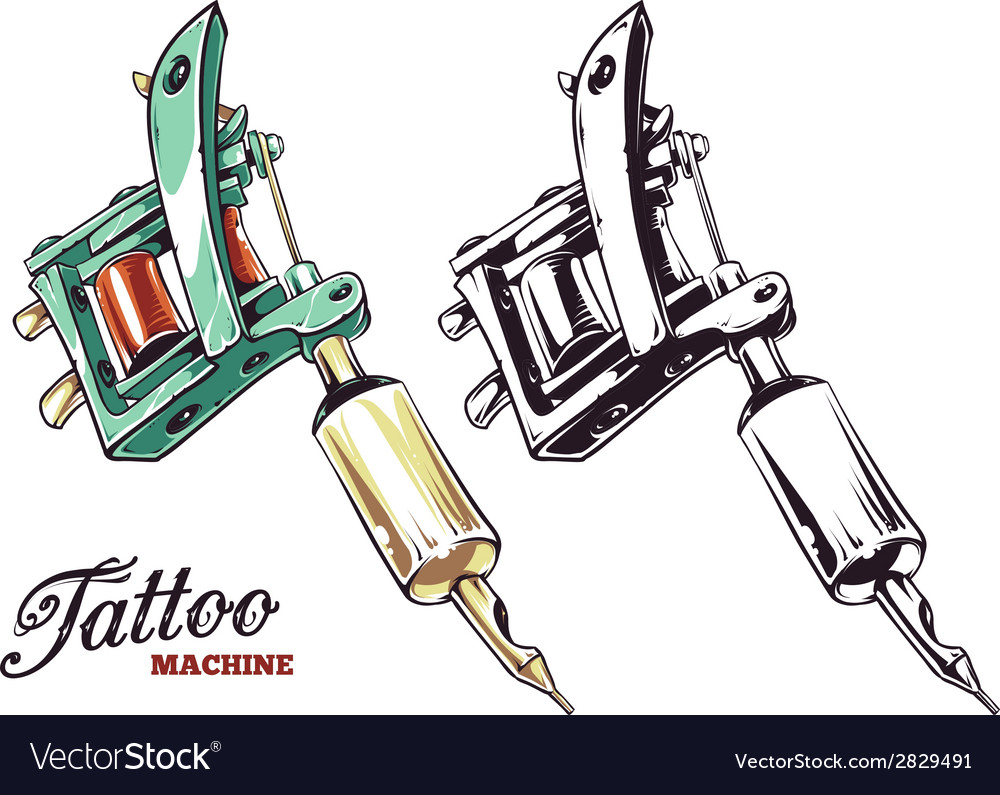 Tattoo machines 1 vector | Price: 1 Credit (USD $1)