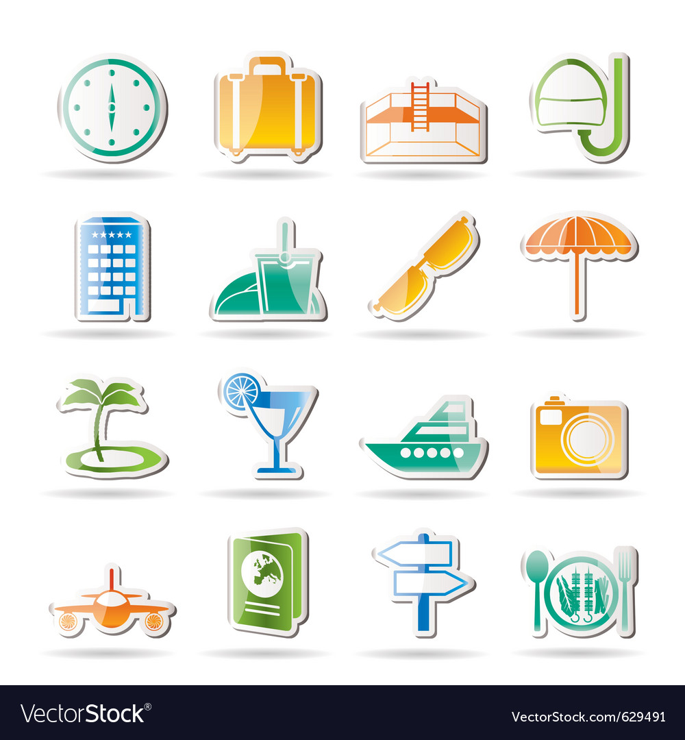 Travel and tourism icons vector   Price: 1 Credit (USD $1)