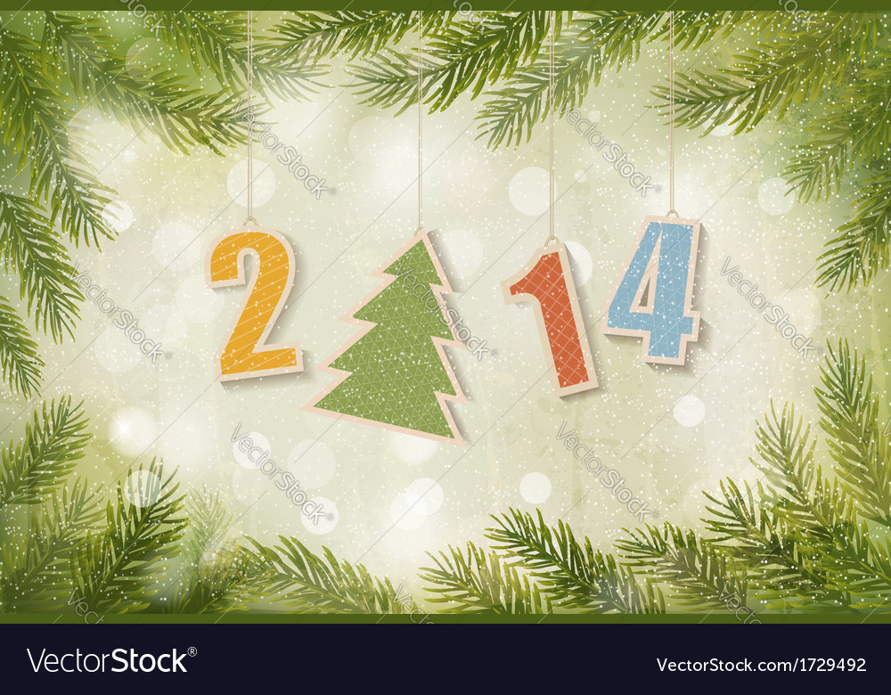2014 happy new year background vector | Price: 1 Credit (USD $1)