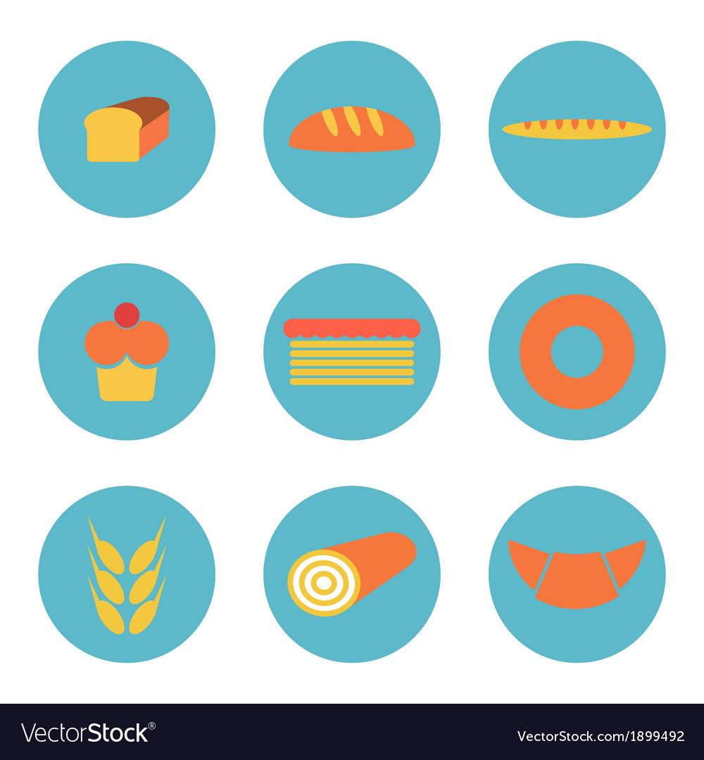 Bread icons vector | Price: 1 Credit (USD $1)