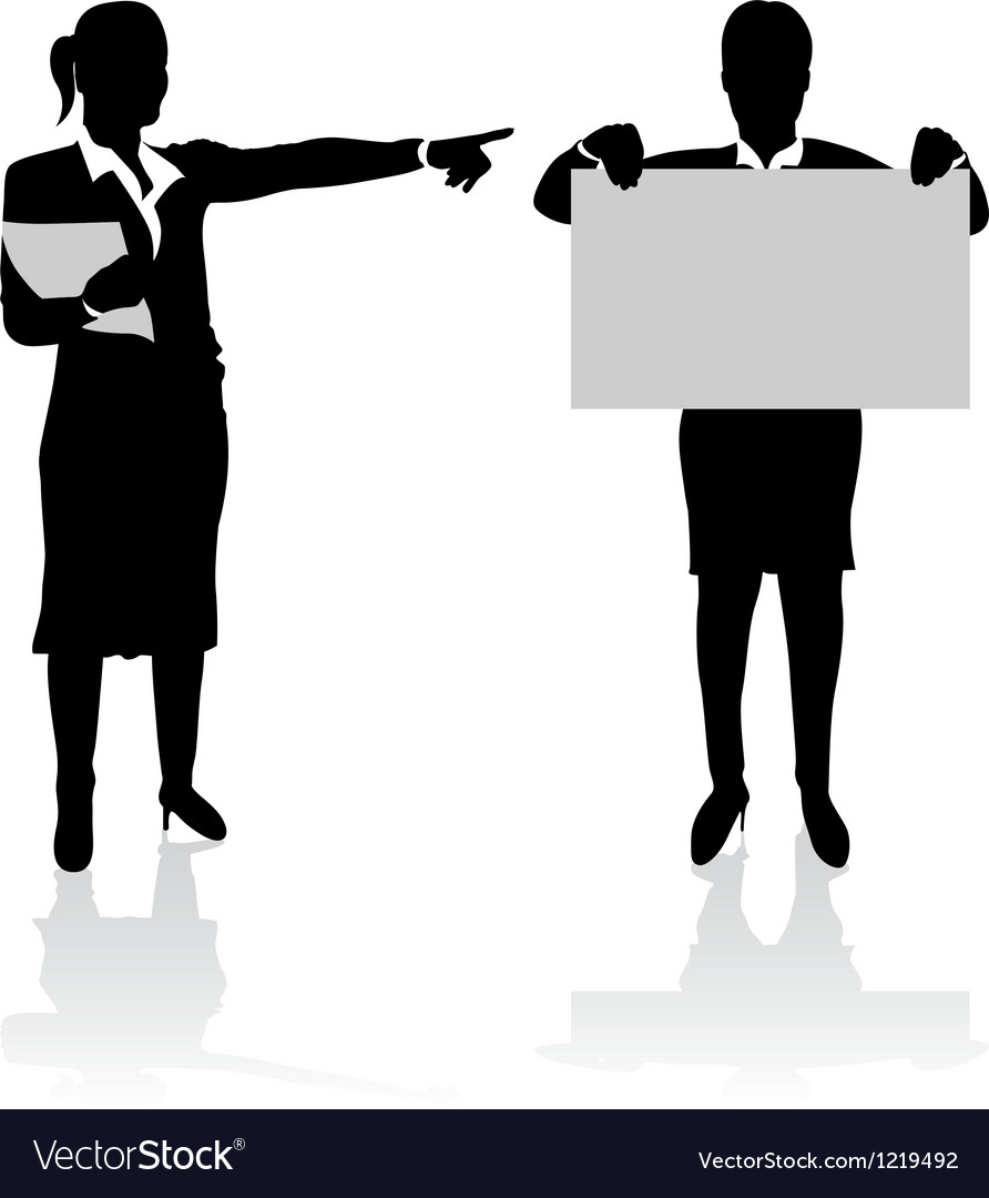 Business people pointing vector | Price: 1 Credit (USD $1)