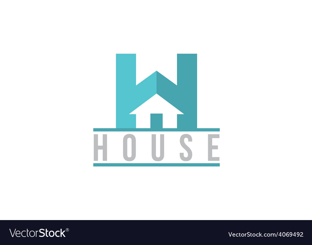 H house sign realty logo vector | Price: 1 Credit (USD $1)