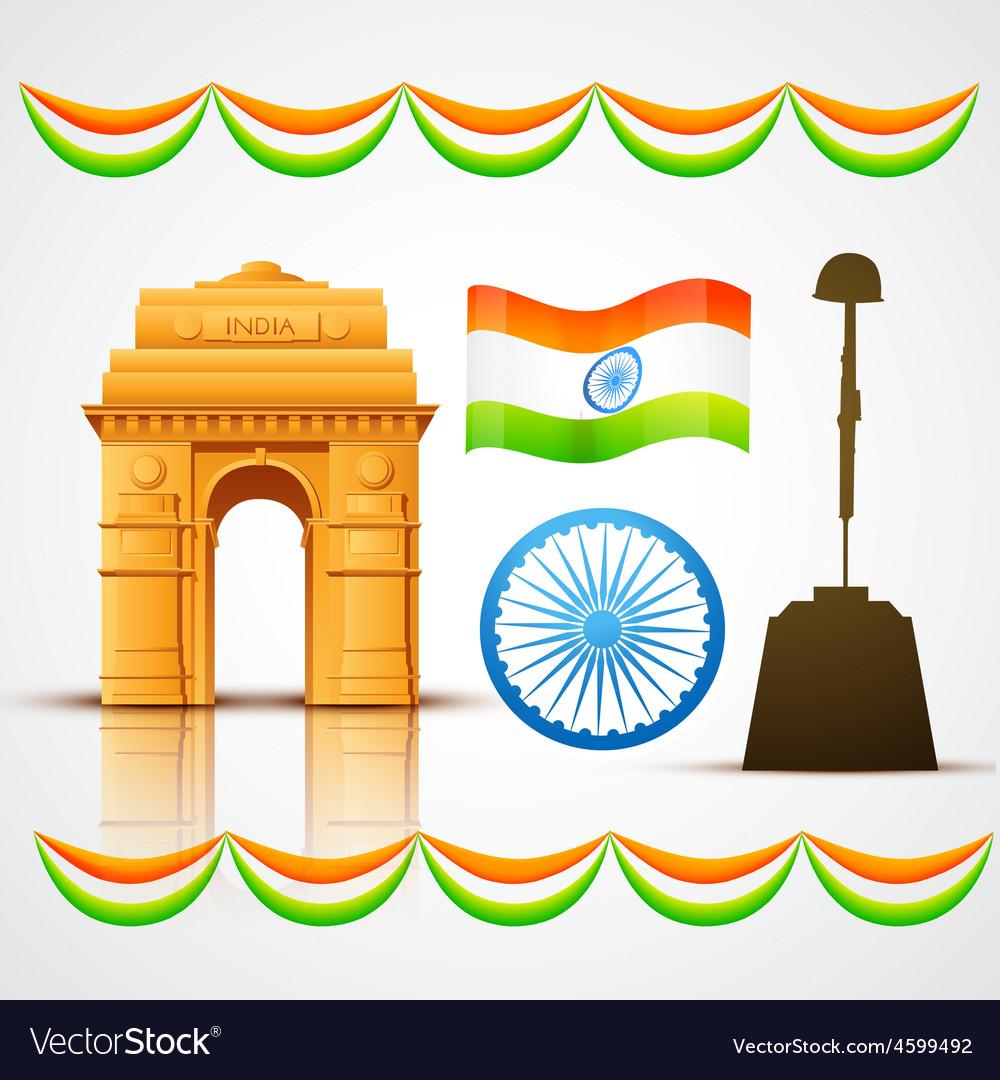 Heritage india vector | Price: 1 Credit (USD $1)