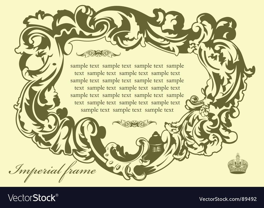 Imperial frame pistachio vector   Price: 1 Credit (USD $1)