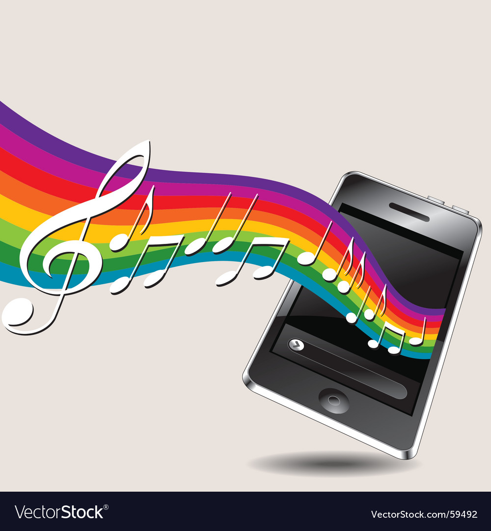 Music phone vector | Price: 1 Credit (USD $1)