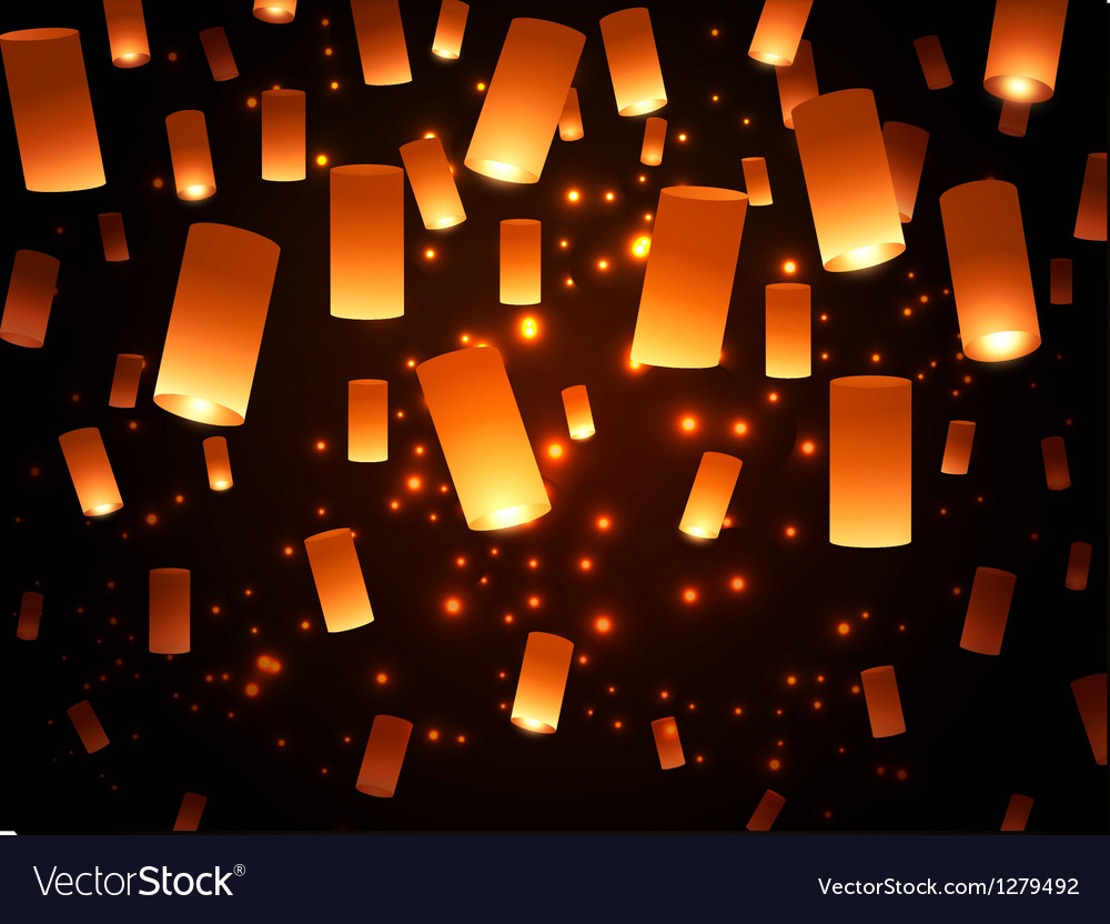 Paper lantern fairy-lights vector | Price: 1 Credit (USD $1)