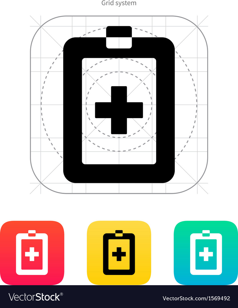 Patient card icon vector | Price: 1 Credit (USD $1)