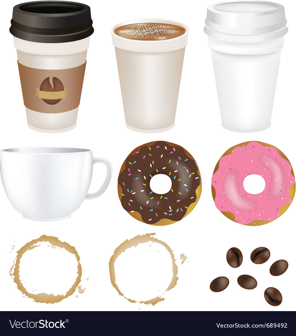 Set coffee vector | Price: 1 Credit (USD $1)