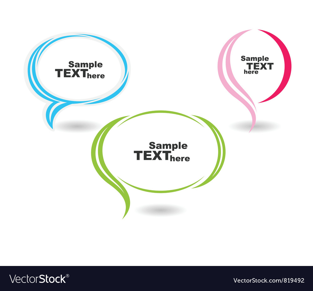Speech colour bubbles text vector | Price: 1 Credit (USD $1)
