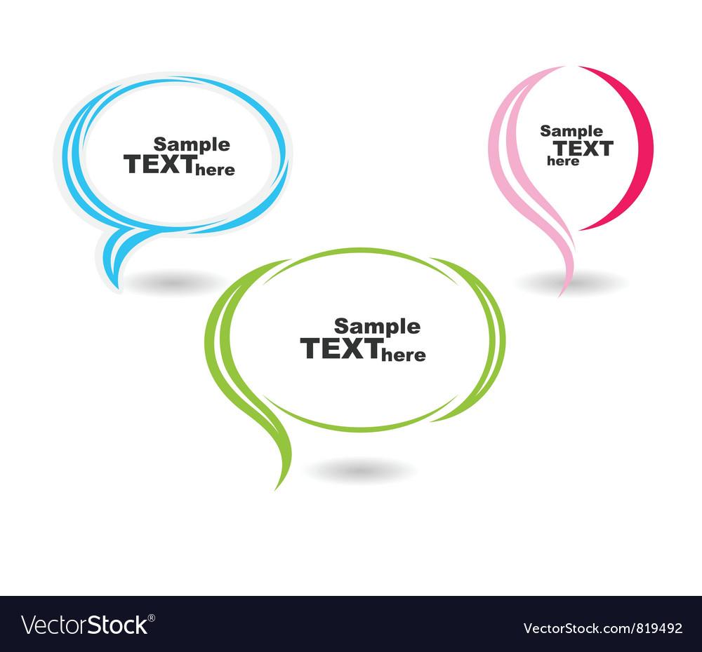 Speech colour bubbles text vector | Price: 1 Credit (USD $1)