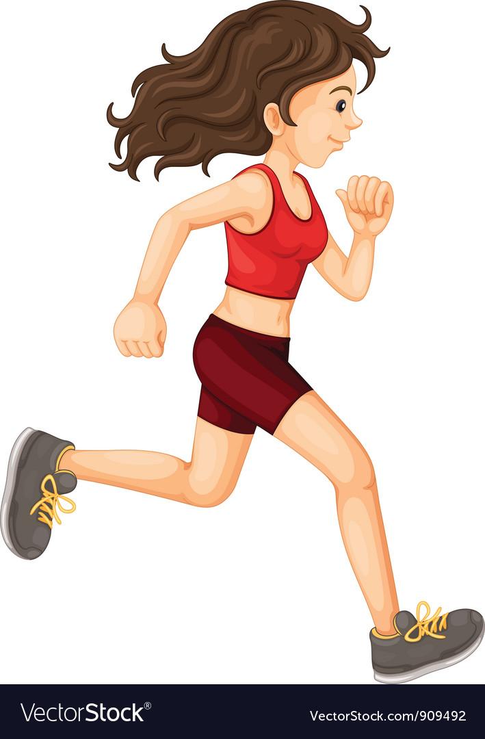Woman running vector   Price: 3 Credit (USD $3)