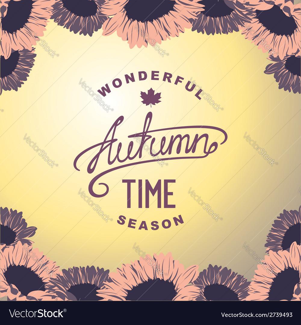 Autumn season time vector | Price: 1 Credit (USD $1)