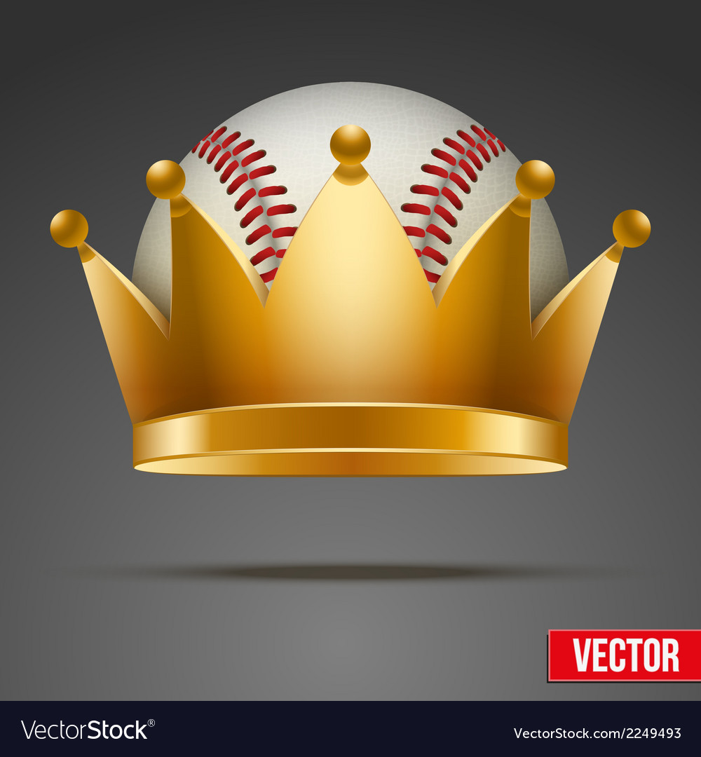 Background of baseball ball with royal crown vector | Price: 1 Credit (USD $1)