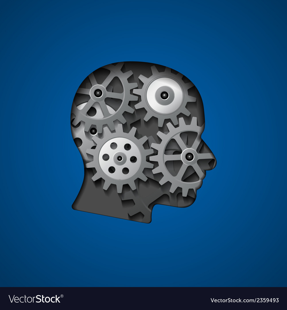 Brain gears 3 vector | Price: 1 Credit (USD $1)