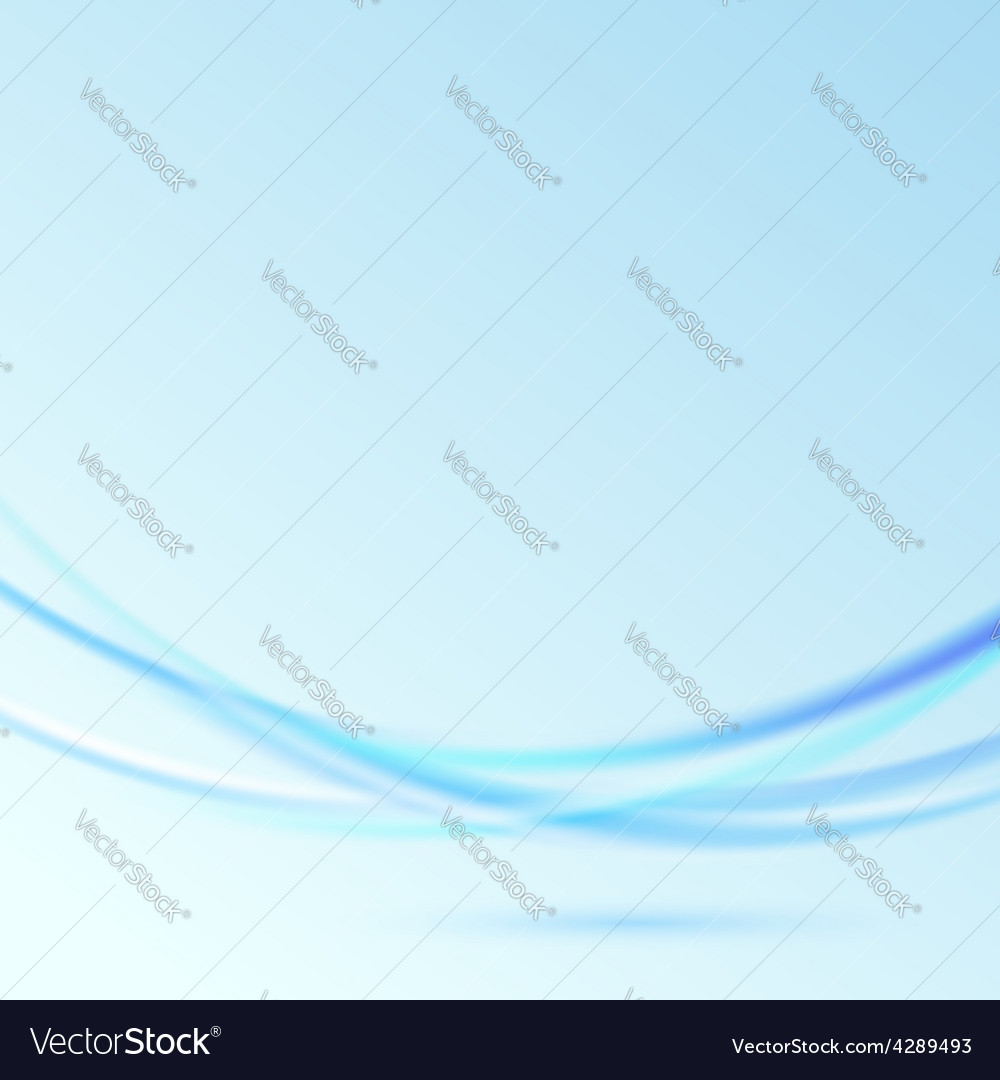 Hovering abstract blue modern waves over blue vector | Price: 1 Credit (USD $1)