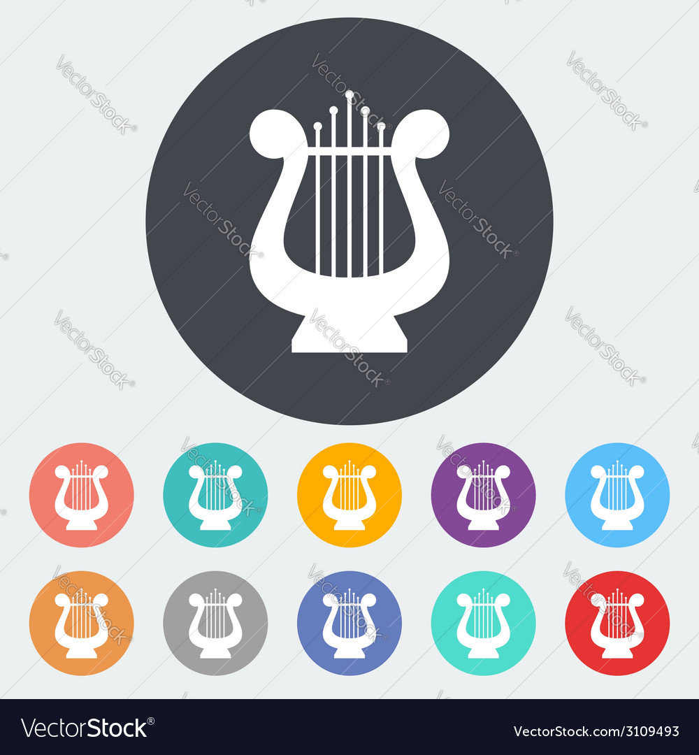 Lyra flat icon vector | Price: 1 Credit (USD $1)