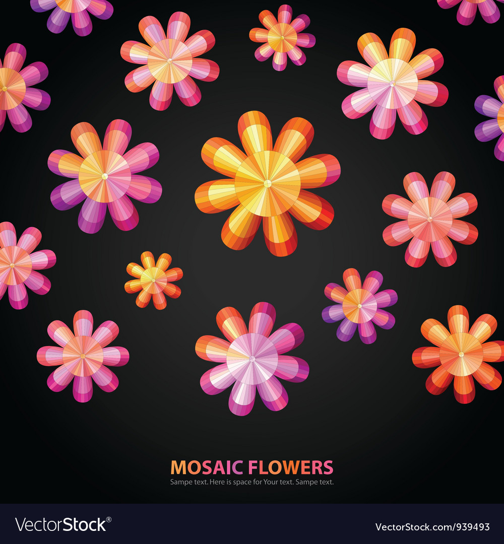 Modern floral shape vector | Price: 1 Credit (USD $1)
