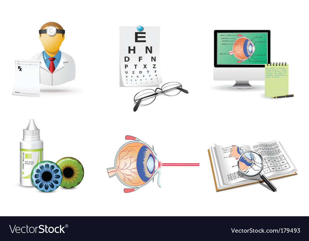 Optometry icons vector | Price: 3 Credit (USD $3)