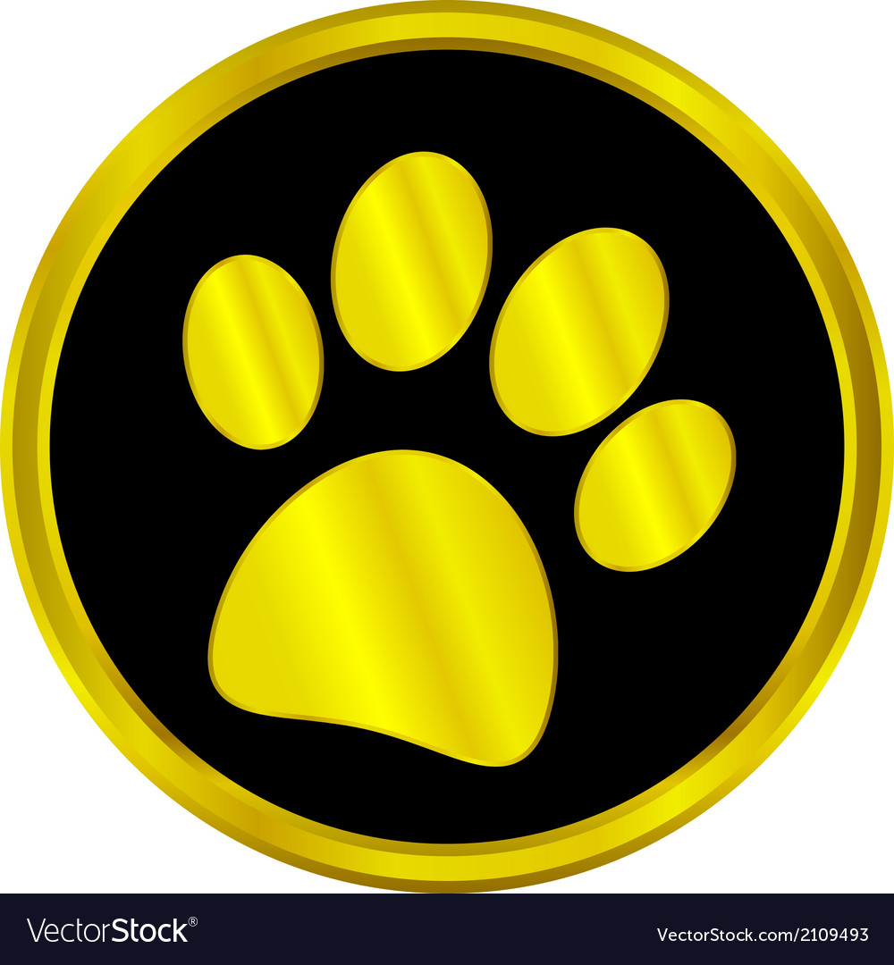 Paw button vector | Price: 1 Credit (USD $1)