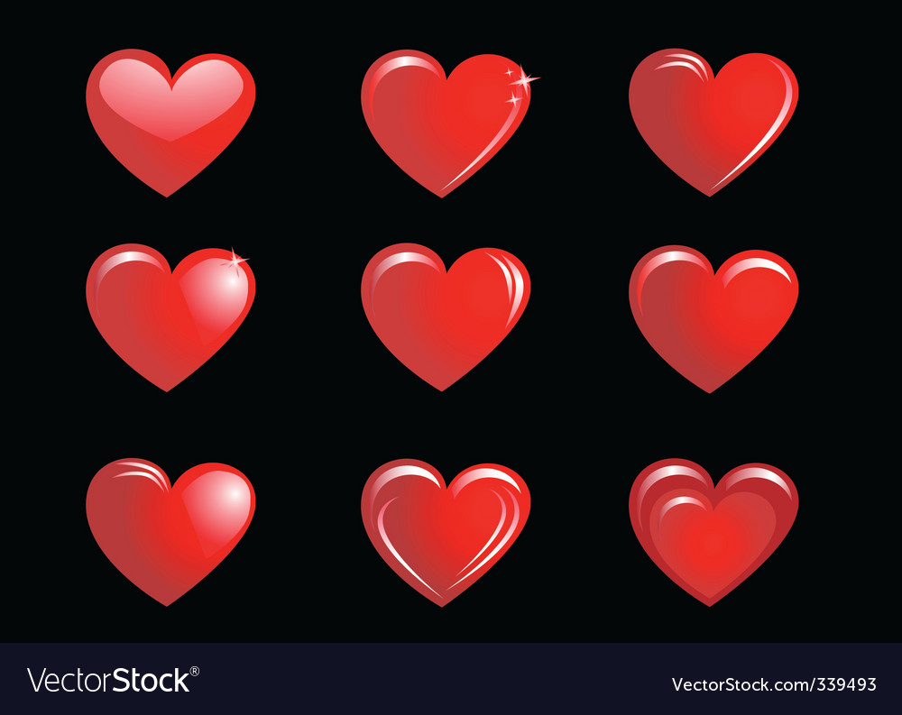 Red hearts background vector   Price: 1 Credit (USD $1)