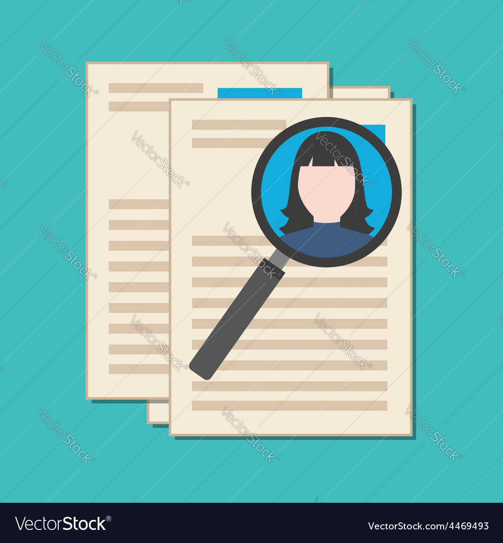 Searching professional staff analyzing resume vector | Price: 1 Credit (USD $1)