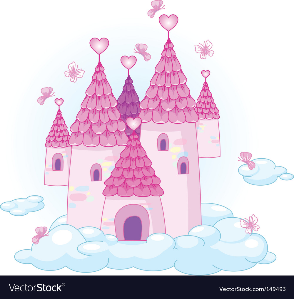 Sky castle vector | Price: 1 Credit (USD $1)
