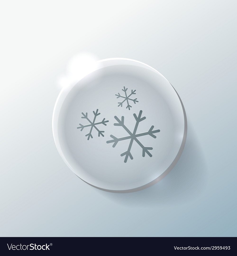 Snowflake the weather icon vector   Price: 1 Credit (USD $1)