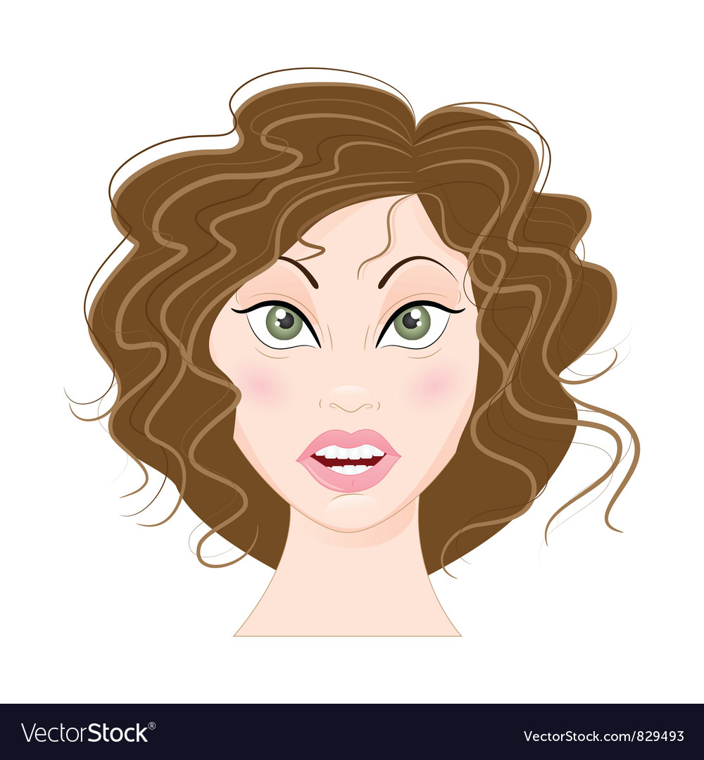 Surprised girl vector | Price: 1 Credit (USD $1)